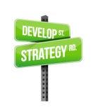 Framkalla strategivägmärkeillustrationen royaltyfri illustrationer
