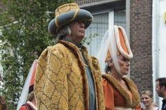 Framkallande av adelsmannar på deras häst Royaltyfria Bilder