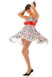 framkallande klänningflicka Arkivfoton
