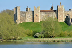Framlingham castle with Mere Royalty Free Stock Images