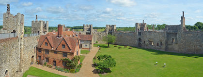 Framlingham castle and Poorhouse. Royalty Free Stock Photo