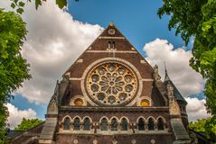 Framme av Kristuskyrkan, i den Hampstead heden royaltyfria foton