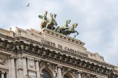 Frammenti architettonici del palazzo di giustizia Corte Suprema di C fotografia stock libera da diritti