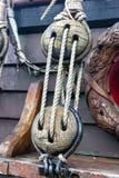 Frammenti della nave di navigazione d'attrezzatura immagini stock libere da diritti
