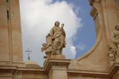Frammenti di Sicilia. Sicily, Noto, detail of ancient Church Royalty Free Stock Images