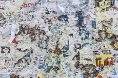 Frammenti strappati del manifesto Fotografia Stock