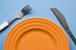 Frammento arancio del piatto Fotografia Stock
