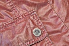 Frammento d'annata moderno rosso del bomber con la tasca applicata Immagine Stock Libera da Diritti