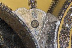 Frammento dei soffitti della decorazione nella cattedrale di Hagia Sophia, IST Fotografia Stock