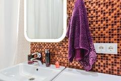 Frammento del bagno interno Fotografia Stock
