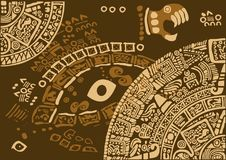 Frammento del calendario delle civilizzazioni antiche Immagine Stock
