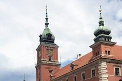 Frammento del castello di Varsavia Fotografia Stock