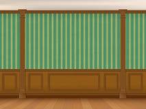 Frammento del gabinetto interno in uno stile classico Immagine Stock