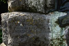 Frammento del monumento ad Antonio Franca Borges fotografia stock