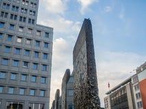 Frammento del muro di Berlino a Potsdamer Platz Fotografia Stock