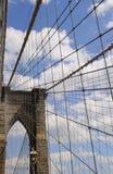 Frammento del ponte di Brooklyn Immagine Stock Libera da Diritti