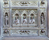 Frammento del portello del ferro. Fotografia Stock
