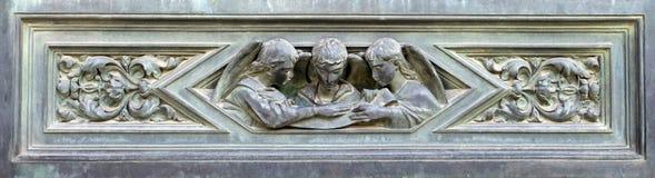 Frammento del portello del ferro. Fotografie Stock Libere da Diritti