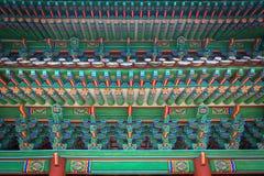 Frammento del portone del palazzo di Changgyeonggung, Seoul, Corea del Sud Fotografie Stock