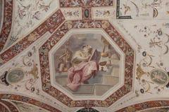 Frammento del soffitto dentro Palazzo Vecchio, Firenze, Toscana, Italia Fotografie Stock