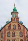 Frammento del tempio di tutte le religioni Il villaggio di vecchio Arakchino Kazan, Tatarstan fotografie stock