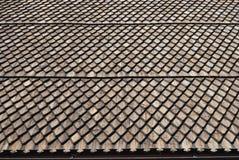 Frammento del tetto di legno Fotografie Stock