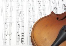 Frammento del violino Immagini Stock