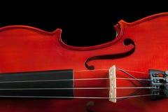Frammento del violino Fotografia Stock