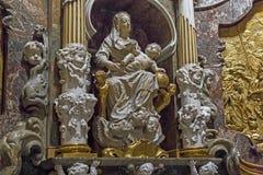 Frammento dell'altare della cappella del Transparente nella C Fotografia Stock
