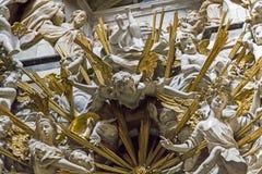 Frammento dell'altare della cappella del Transparente nella C Immagini Stock