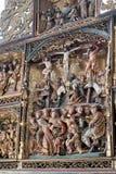 Frammento dell'altare scolpito del monastero femminile di luna del benedettino, Lueneburg, Germania Fotografie Stock