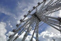 Frammento dell'attrazione Ferris Wheel Fotografia Stock