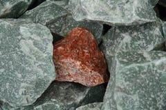 Frammento dell'ematite del granito fotografie stock libere da diritti
