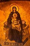 Frammento dell'immagine della madre di Dio con Gesù Fotografia Stock