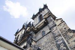 Frammento della chiesa a Praga Fotografie Stock