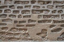 Frammento della parete di pietra antica Fotografie Stock Libere da Diritti