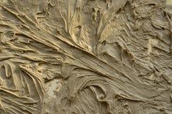 Frammento della pittura dell'estratto dell'olio nel tono grigio Fotografia Stock Libera da Diritti