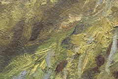 Frammento della pittura a olio come immagine Immagini Stock