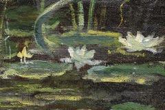 Frammento della pittura a olio come immagine Fotografia Stock Libera da Diritti