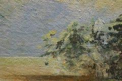 Frammento della pittura a olio come immagine Fotografia Stock