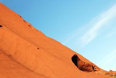 Frammento della roccia di Ayers - di Uluru Fotografie Stock Libere da Diritti