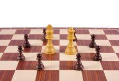 Frammento della scheda di scacchi Fotografia Stock Libera da Diritti