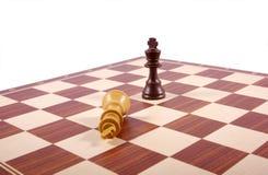 Frammento della scheda di scacchi isolato su bianco Fotografie Stock