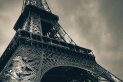 Frammento della torre Eiffel, annata tonificata Immagine Stock
