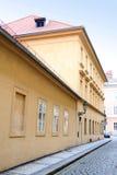 Frammento di architettura a Praga Fotografia Stock Libera da Diritti