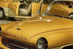 Frammento di retro automobile Fotografie Stock
