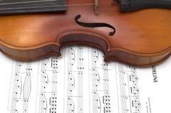 Frammento di retro violino Immagini Stock Libere da Diritti