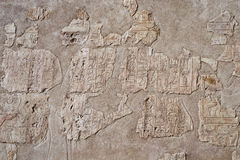 Frammento di un'iscrizione sulla parete Immagine Stock Libera da Diritti