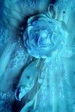 Frammento di un vestito della sposa Fotografia Stock Libera da Diritti