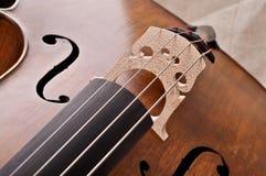 Frammento di un violoncello Fotografia Stock Libera da Diritti